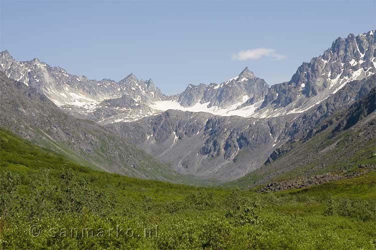 De Mint Glacier dichtbij Hatcher Pass in Alaska