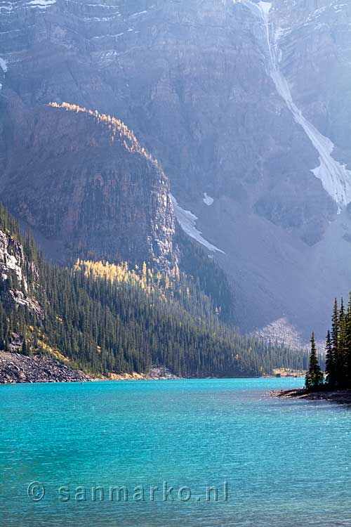 Moraine Lake in Banff National Park in Canada