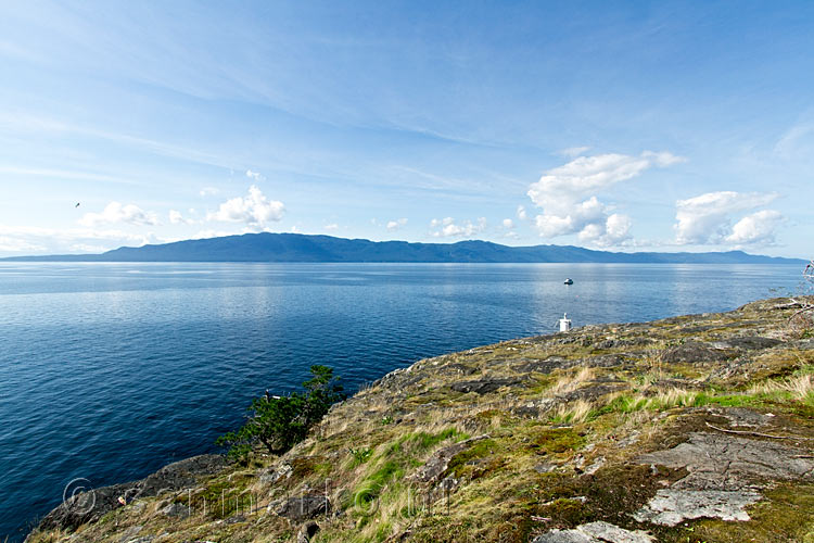 Texada Island vanaf Francis Point aan de Sunshine Coast in British Columbia
