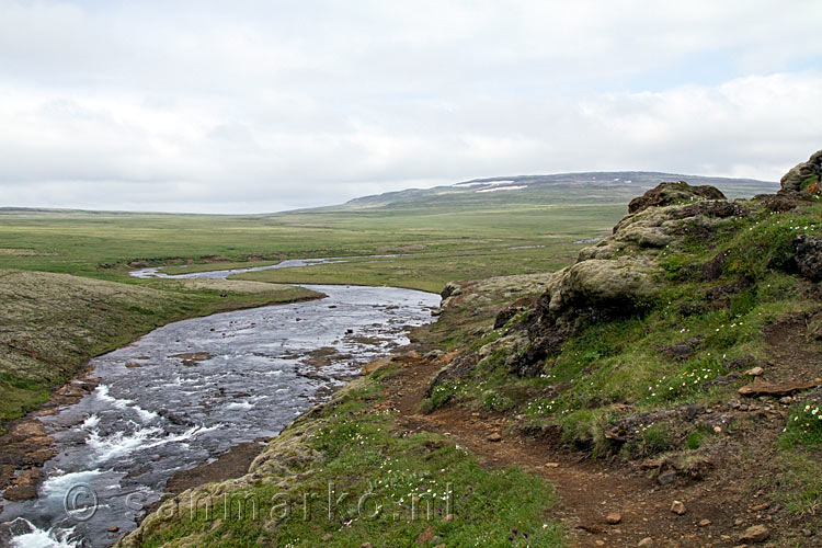 Uitzicht op de omgeving boven de glymur waterval en de hvalfell 852 m in ijsland glymur - Uitzicht op de tuinman ...