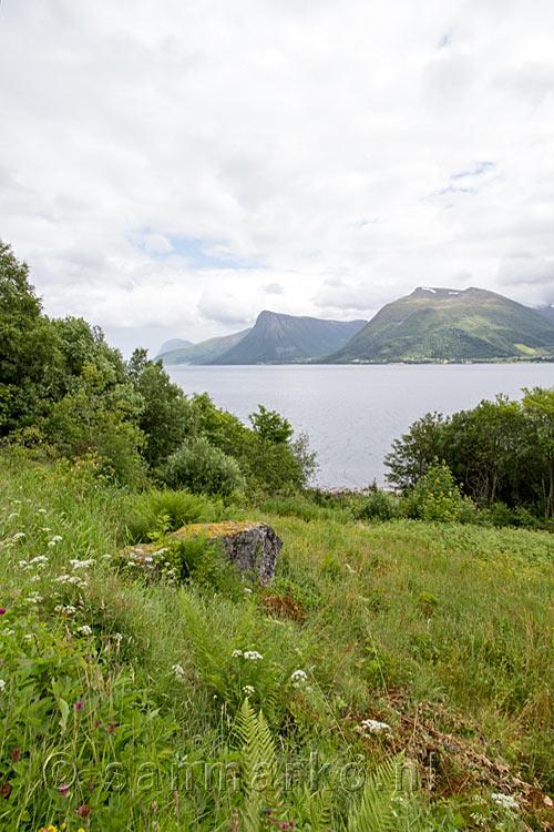 Uitzicht op de schitterende natuur van de eilanden rondom hareidslandet in noorwegen ulset almen - Uitzicht op de tuinman ...