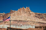 The Castle bij de ingang van Capitol Reef National Park in Utah