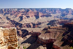 Grand Canyon National Park vanaf de South Rim in Arizona