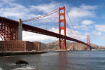 De Golden Gate Bridge in San Francisco in Amerika